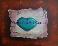 Cracked Clay Heart