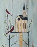 Folksy Cardinal Home