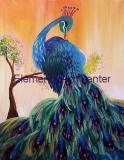 Peacock in waiting