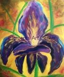 Warm Violet Iris