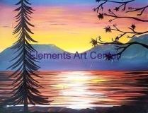 sunset at pine lake