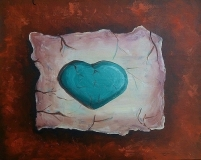 Cracked Clay Heart