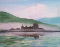 Misty Scottish Castle