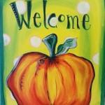 """Welcome Pumpkin"""