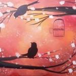Warm Birds in Tree